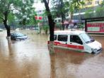 汝陽突降大雨積水嚴重