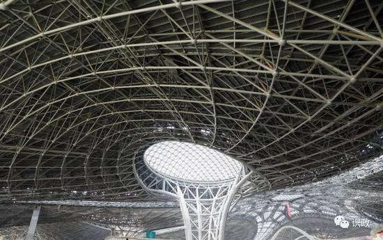 气势宏大的北京新机场航站楼