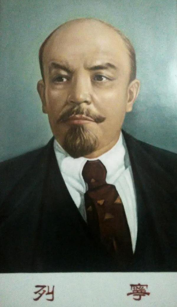吴康瓷板画  《列宁》(图片来源于网络)