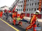 廊坊广阳区康乐花园社区举行消防演练