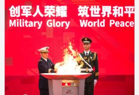 第七届世界军人运动会武汉站火炬传递侧记